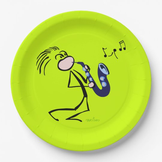 Jazz saxophonists paper plate