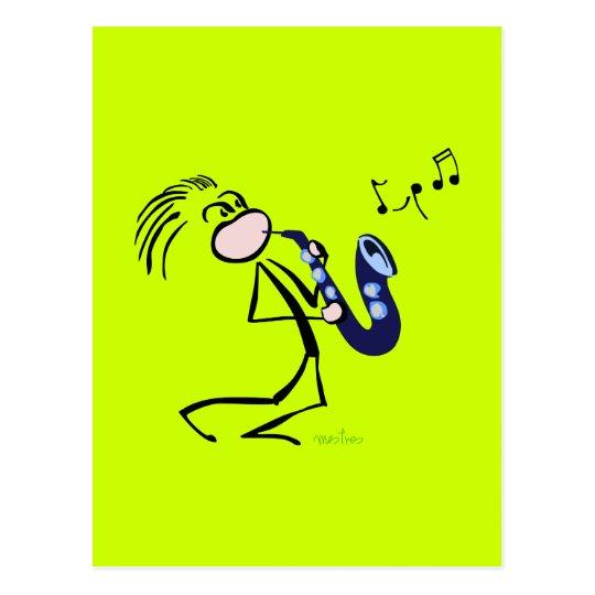 Jazz saxophonists postcard