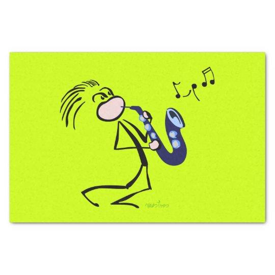 Jazz saxophonists tissue paper