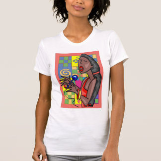 Jazz Singer Abstract Background T-Shirt
