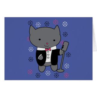Jazz Singer Cat Card