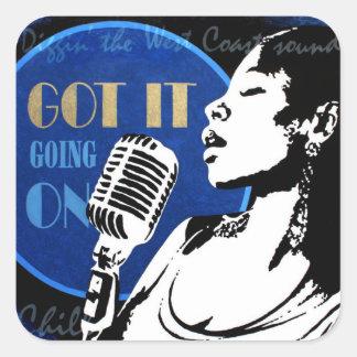 Jazz Singer Sticker