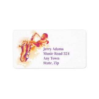 Jazz Solo Saxophone Label