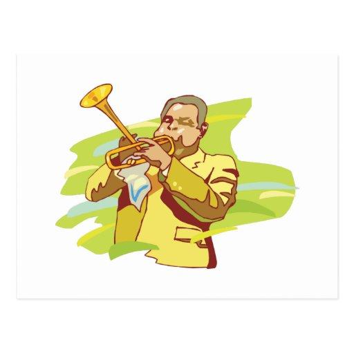 jazz soul performer postcard