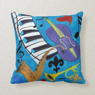 Jazz throw pillow from art