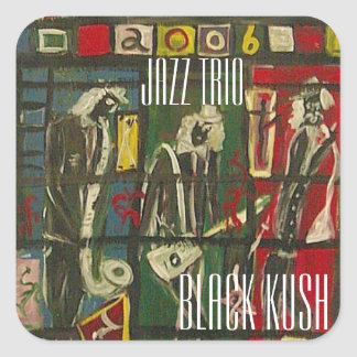 JAZZ TRIO BLACK KUSH SQUARE STICKER
