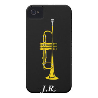 Jazz Trumpet add your Initials case-mate  Iphone4 iPhone 4 Cases