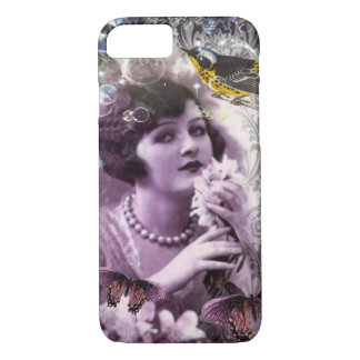 Jazz Vintage damask 1920s Lady Flapper Girl Paris iPhone 8/7 Case