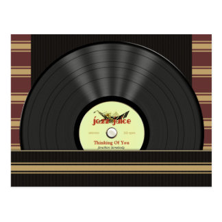 Jazz Vinyl Record Personalized postcards