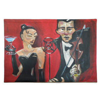Jazz violin placemat