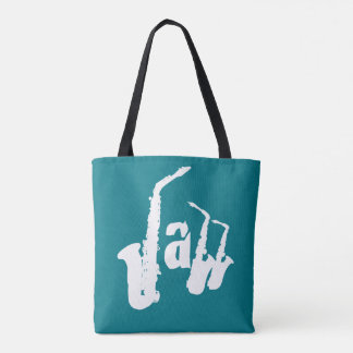 Jazz White Sax Choose your color background Bag