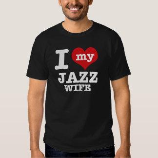 jazz wife t-shirts