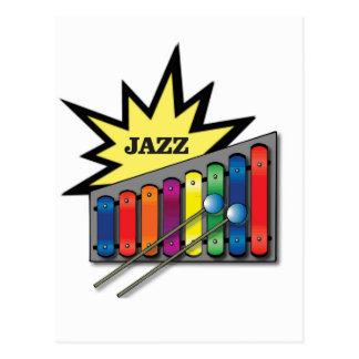 jazz xylophone postcard