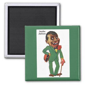 Jazzbo Jackson Square Magnet