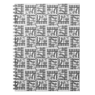 Jazzy Black and White Music Notebook