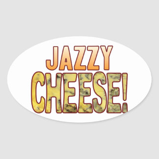 Jazzy Blue Cheese Oval Sticker