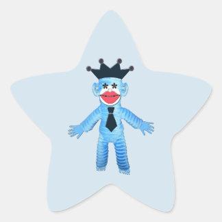 Jazzy Blue Monkey Star Sticker