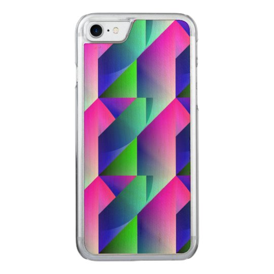 Jazzy Blue Pattern Carved iPhone 7 Case