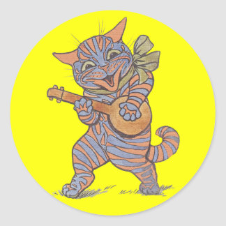 Jazzy Cat Sticker