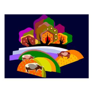 Jazzy Farm Vista Postcard