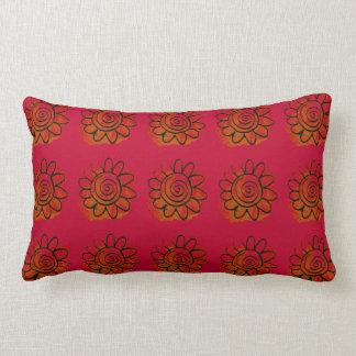 Jazzy Flower Lumbar Pillow