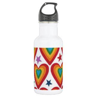 Jazzy Hearts White Water Bottle