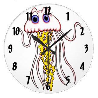 Jazzy Jellyfish Large Clock