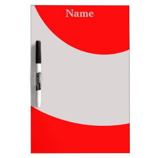 Jazzy Red and Grey Dry Erase Board