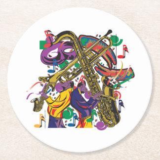 JAZZy Round Paper Coaster