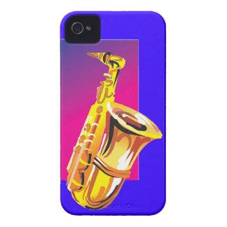 Jazzy Saxophone iPhone 4 Case