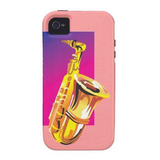 Jazzy Saxophone iPhone 4 Cases