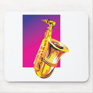 Jazzy Saxophone Mousepads