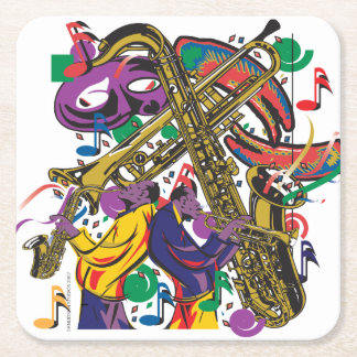 JAZZy Square Paper Coaster