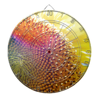 jazzy sunflower dartboard