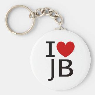 JB BASIC ROUND BUTTON KEYCHAIN