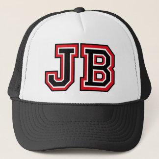 'JB' Monogram Trucker Hat