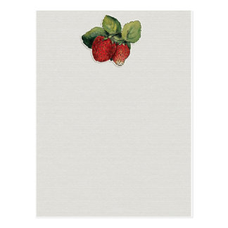 JC20 STRAWBERRIES STRAWBERRY CUT OUTS SCRAPBOOKING POSTCARD