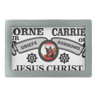 JC borne to carry griefs and sorrows Belt Buckles