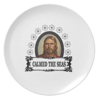 jc calmed the seas plate