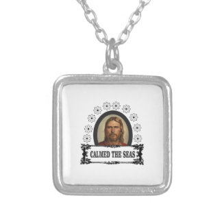 jc calmed the seas silver plated necklace