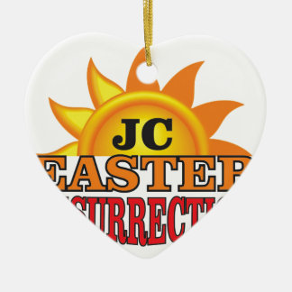 jc easter ressurection ceramic ornament