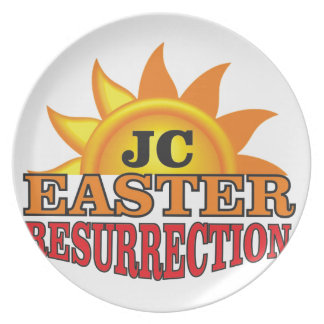 jc easter ressurection plate