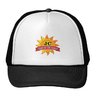 jc light of the world trucker hat