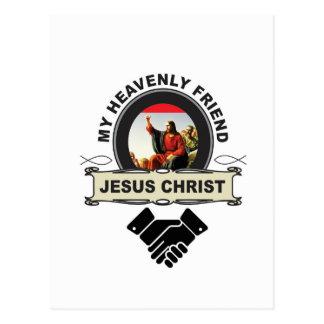 JC my heavenly friend Postcard