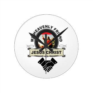 JC my heavenly friend Round Clock