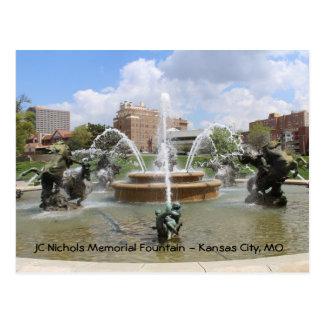 JC Nichols Memorial Fountain # 7 Postcard