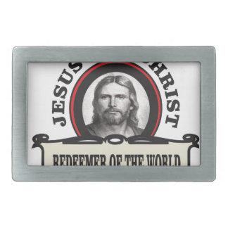 JC redeemer of the world Rectangular Belt Buckle