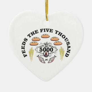 JC ring of miracles Ceramic Ornament
