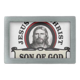 jc son of god rectangular belt buckle