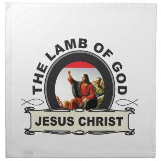jc the lamb of god napkin